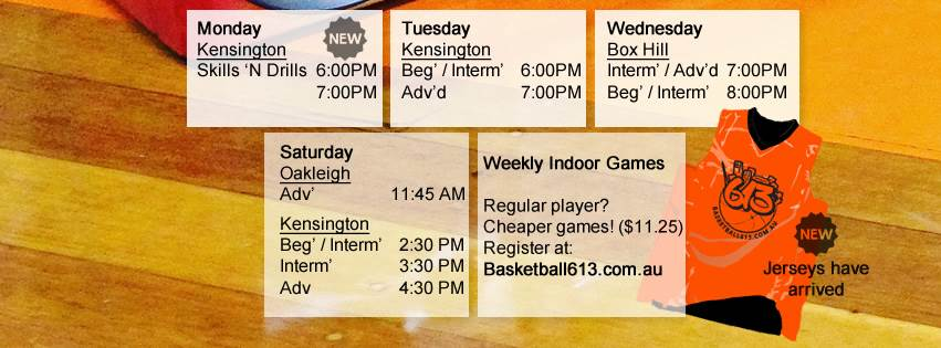 Basketball Games timetable