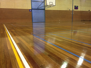 Shiny new indoor courts at Box Hill