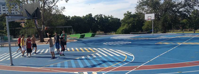 Basketball court in Boxhill