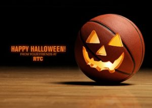 Halloween basketball social drinks and lunch