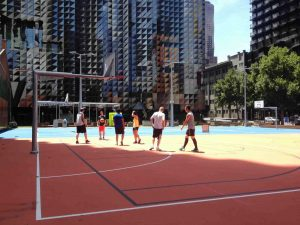RMIT outdoor basketball