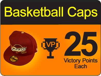 Victory points for basketball caps