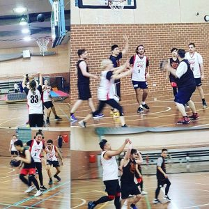 Average Joes basketball team playing the weekend warriors in boxhill